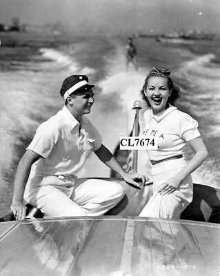 Jackie Coogan and Betty Grable Taking Part in the National Aquaplane Race Photo