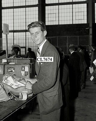 John F. Kennedy Traveling as a Young College Man Photo