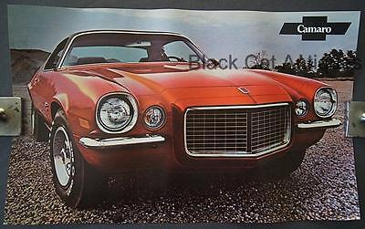 Orig 1971 Chevy Camaro RS/SS Coupe Poster Sell Sheet Info Over-sized 17 3/4 X 11