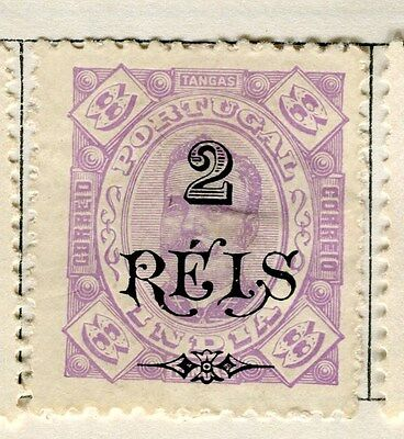 PORTUGUESE INDIA;  1902 Provisional surcharges 2r. Mint hinged value