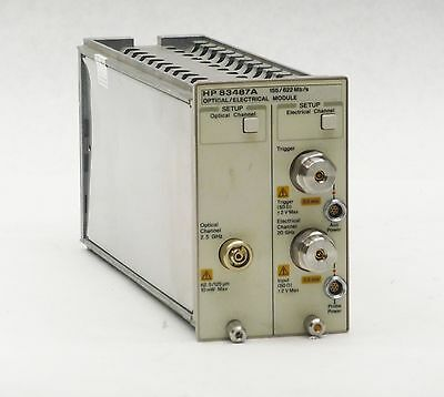 HP AGILENT 83487A 2.5GHz OPTICAL 20GHz ELECTRICAL 155/622Mb/s PLUG-IN MODULE