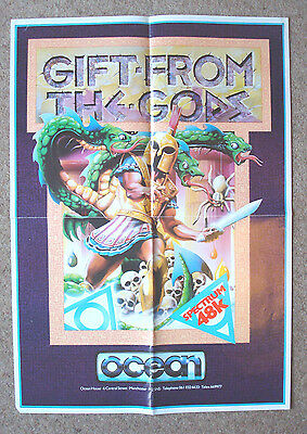 Gift from the Gods Retro Game Poster ZX Spectrum 48K, Commodore 64, C64