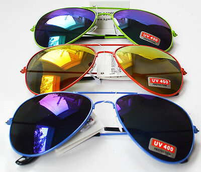 Wholesale Sunglasses 72 Pc All New Style Reflective Col Aviator  £1   Each