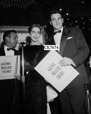Rock Hudson and Julie Adams at Movie Premiere of 'The Glenn Miller Story' Photo