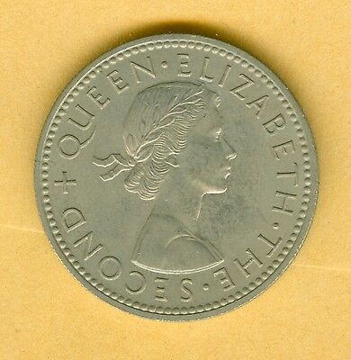 New Zealand 1962 Shilling--Uncirculated