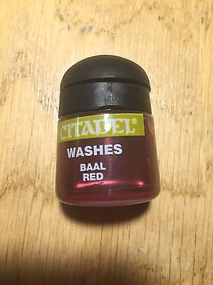 Citadel Paints Baal Red Wash Shade New 12ml Warhammer Games Workshop OOP Washes