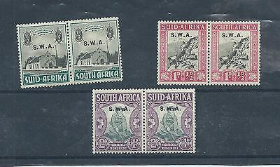 South West Africa stamps. 3 of the 1935 Voortrekkers set MH. (Y274) Namibia