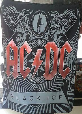 AC/DC Black Ice 2 FLAG CLOTH POSTER WALL TAPESTRY CD Angus Young HEAVY METAL