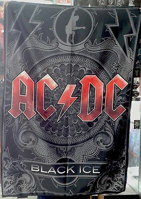 AC/DC Black Ice FLAG CLOTH POSTER WALL TAPESTRY CD Angus Young HEAVY METAL