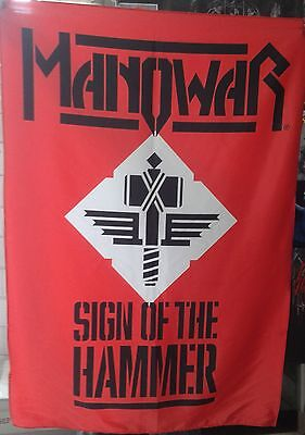 MANOWAR Sign of the Hammer FLAG CLOTH POSTER WALL TAPESTRY CD Power Metal