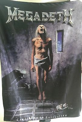 MEGADETH Countdown to Extinction FLAG CLOTH POSTER WALL TAPESTRY BANNER CDThrash
