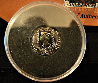 Penny Black (RC) Plate? Very Fine 3 Margins & BLACK 24ct Gold COIN Special Issue