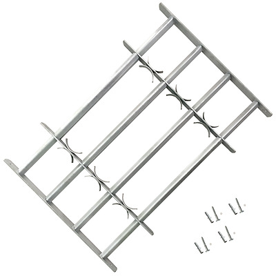 Adjustable Window Security Grilles Bars Shed Office with 4 Crossbars 700-1050 mm