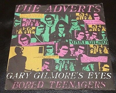 "The Adverts Gary Gilmore's Eyes 7"" Picture Sleeve Single."