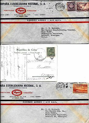 lot 199 Latin America 1915 postcard, 1948 covers to USA