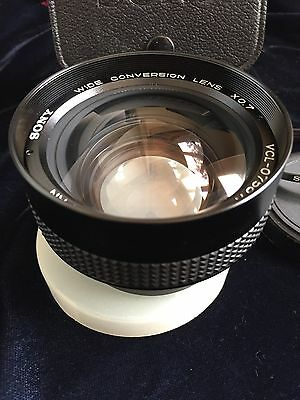 Sony 'cyber Shot' Vcl-0758A Wide Conversion X0.7 Lens W/caps