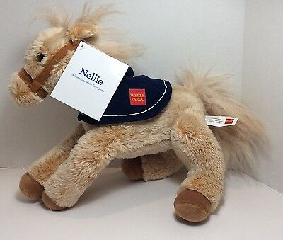 Nellie Wells Fargo Plush Horse Stuffed Animal With Tags 12 inches