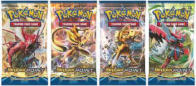 4x XY BreakPoint Booster Packs Sealed New Pokemon TCG Collectable Cards + Bonus