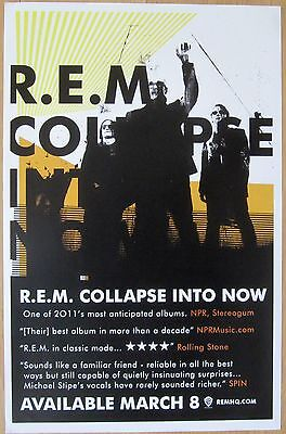 R.E.M. - COLLAPSE INTO NOW Promo Poster [2011] - VG++