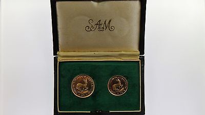 1978 South Africa 1 Rand and 2 Rand Gold Two Proof Coin Set