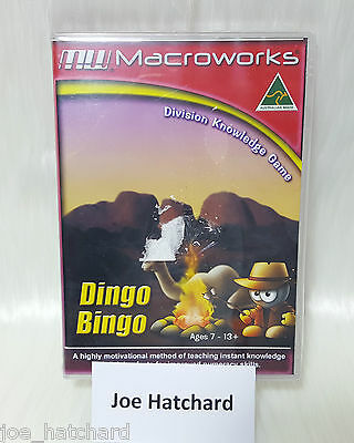 Macroworks Dingo Bingo Division Knowledge Game Ages 7 - 13+