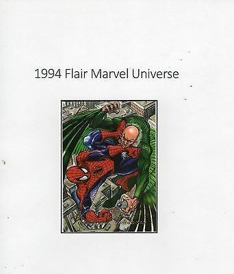 1994 Flair Marvel Universe Trading Card #8 Origin of Vulture