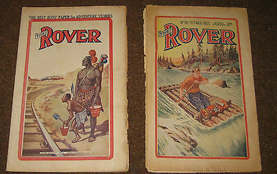 Rover Story Paper no 181 & 334 (1925 & 1928) like Wizard and Hotspur