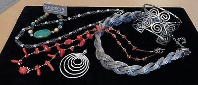 LOT Vtg SOUTHWEST Jewelry  GORGEOUS Turquoise,FINGER CORAL ,CHUNKY Silver &MORE