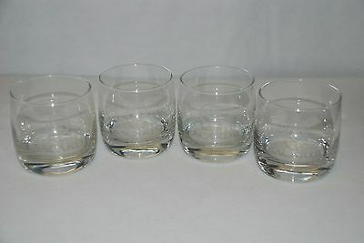 BACARDI Bat Device Logo Clear Glass Tumbler Set of 4, Nice Drinking Glasses