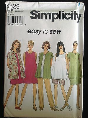 Pattern Simplicity 8529 maternity dress or top, skirt, pants, shorts 12-16