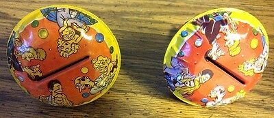 Two Vintage Metal Noise Makers