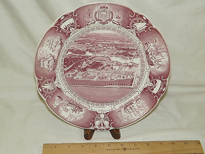 Wedgwood England US Naval Academy Airplane View from East Collector Plate