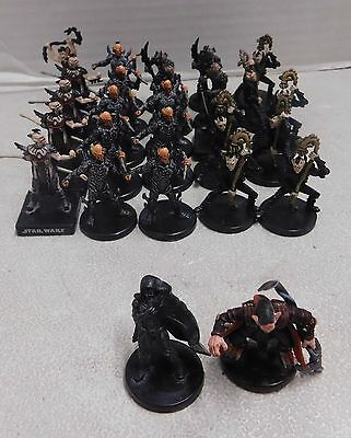 STAR WARS MINIATURES YUUZHAN VONG LOT (27 Figures + Cards)