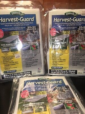 3 PACK - Guard Seed Germination & Frost Protection Cover 5'