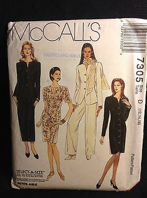Pattern McCall's 7305, misses jacket, dress, skirt and pants, 12-14