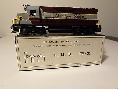 Hallmark models Canadian Pacific EMD GP-35 in HO scale brass.