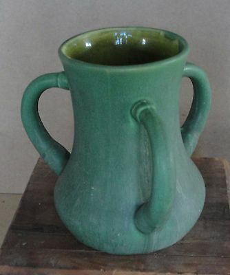 Hampshire Pottery Matte Green Loving Cup~Arts and Crafts Era