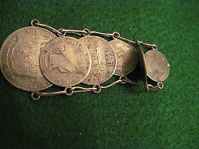 Watch Fob Jewelry Made Of Old Spanish Silver Coins