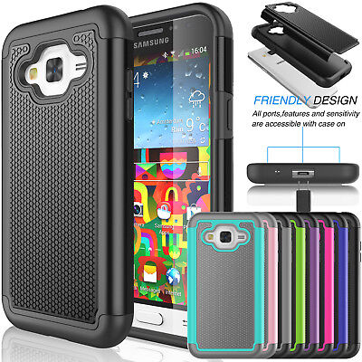For Samsung Galaxy Express Prime Protective Rugged Hybrid Rubber Hard Case Cover