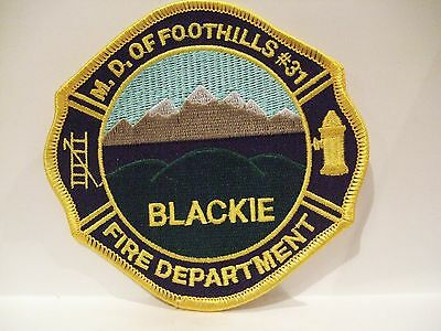 fire ems ambulance patch  BLACKIE STN  M.D. FOOTHILLS FIRE DEPT  ALBERTA CANADA