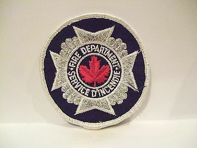 fire ems ambulance patch  GENERIC FIRE DEPT PATCH   CANADA  WHITE & SILVER