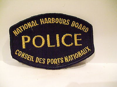 police patch  NATIONAL HARBOURS BOARD POLICE   CANADA