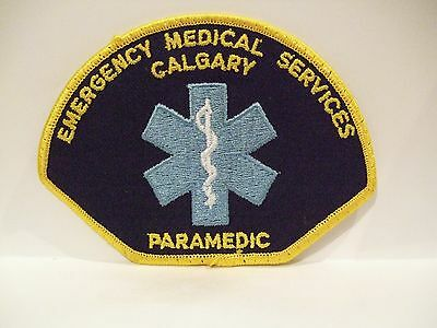 fire ems ambulance patch  CITY OF CALGARY EMS PARAMEDIC ALBERTA CANADA