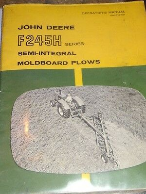 John Deere F245H Series Moldboard Plows Operator's Manual