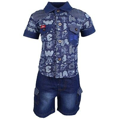 Set Baby Lee Cooper Jeans Pants + Tank Top + Shirt Dark Blue