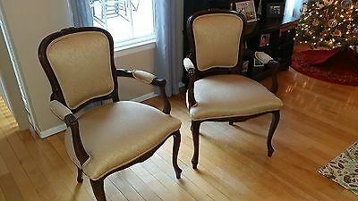 Excellent Set / Pair of LOUIS XV Styled Arm Chairs