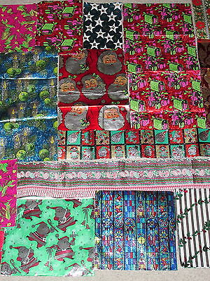 Vintage Christmas FOIL wrapping paper GiIFT WRAP Crafts Scrapbooking