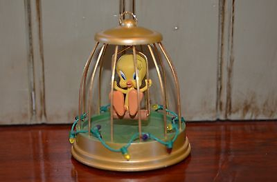 Hallmark Ornament 2004 Music Sound TWEETY Cage Christmas Looney Tunes Works