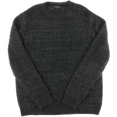 Club Room 3091 Mens Black Cable Knit Marled Pullover Sweater Shirt M BHFO