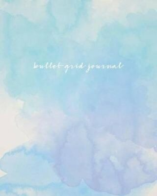 Bullet Grid Journal Watercolor, 150 Dot Grid Pages, 8x10, Profe... 9781541368330